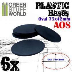 Plastiques Ovale (75x42mm)...