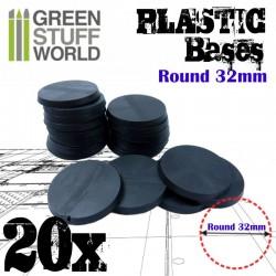 Plastiques ROND 32mm - Socles
