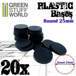 Plastiques ROND 25mm - Socles