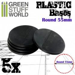Plastiques ROND 55mm - Socles