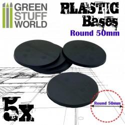 Plastiques ROND 50mm - Socles