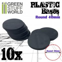 Plastiques ROND 40mm - Socles