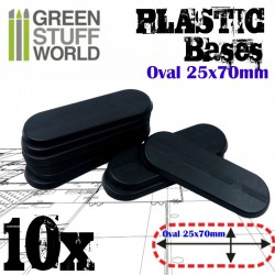 Plastiques Ovale (25x70mm)...