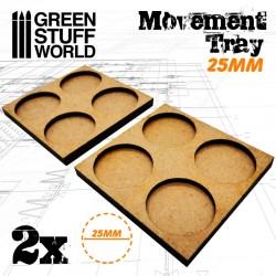 MDF 25mm 2x2 - Plateaux de...