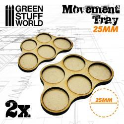 MDF 25mm x5 - Plateaux de...